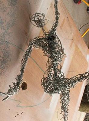 wired sculpture 6 - نحوهی ساخت مجسمههای سیمی