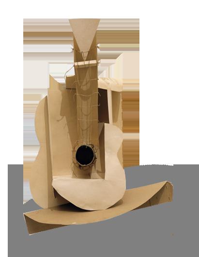 Guitar Construction - مجسمه انتزاعی