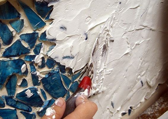 mosaic art grout - آشنایی با مقدمات هنر معرق کاشی