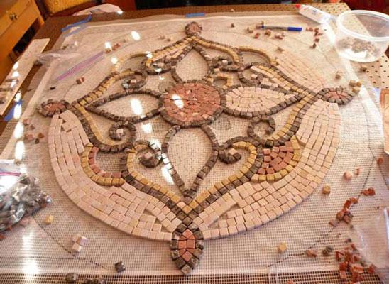 mosaic art net - آشنایی با مقدمات هنر معرق کاشي