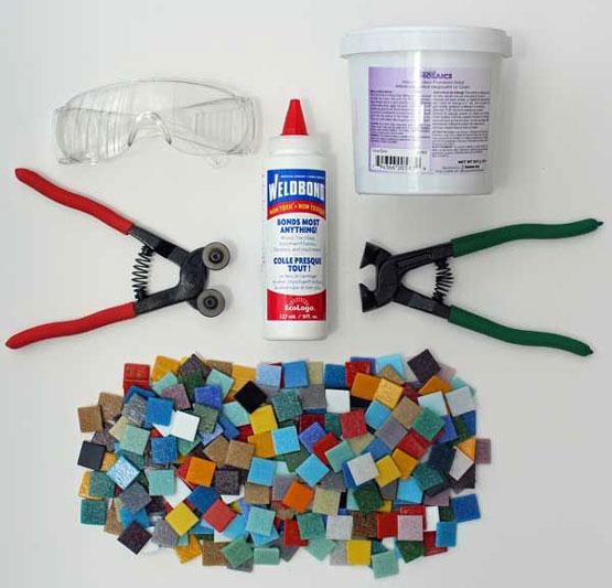mosaic art tools - آشنایی با مقدمات هنر معرق کاشی
