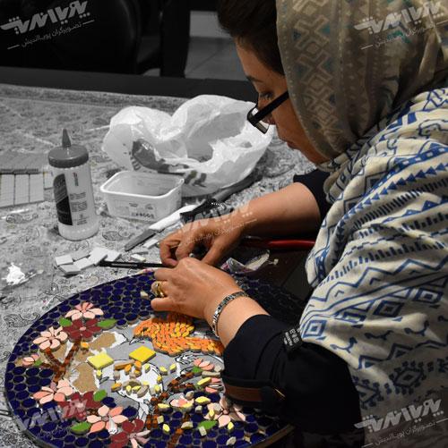 mosaic class - آشنایی با مقدمات هنر معرق کاشی