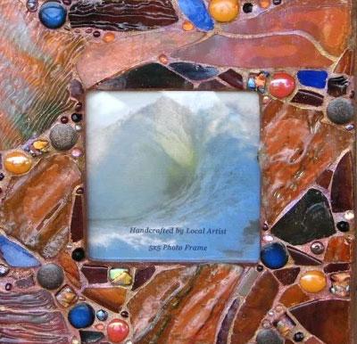 mosaic frame - آشنایی با مقدمات هنر معرق کاشي