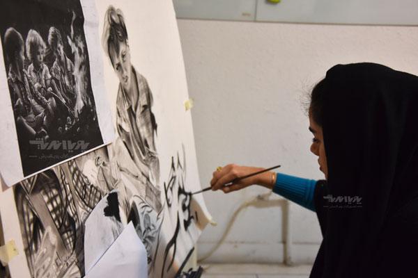 siahghalam class 1 - نقاشی سیاه قلم