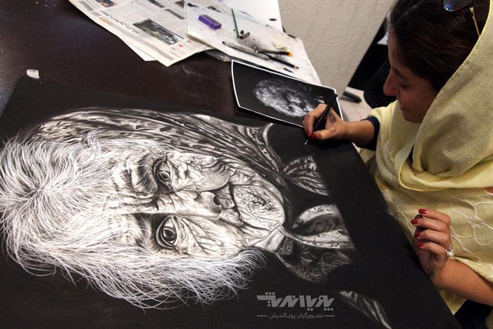 siahghalam class 10 - نقاشی سیاه قلم