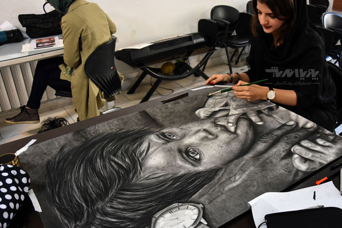 siahghalam class 11 - نقاشی سیاه قلم