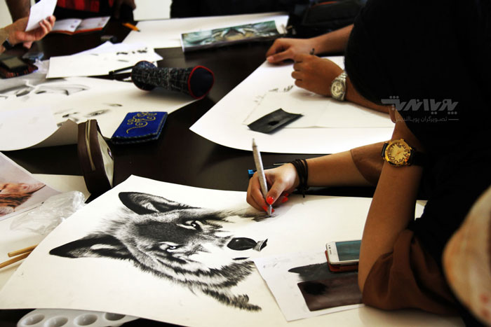 siahghalam class 13 - نقاشی سیاه قلم