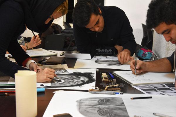siahghalam class 15 - نقاشی سیاه قلم