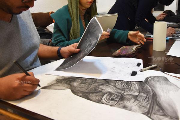 siahghalam class 16 - نقاشی سیاه قلم