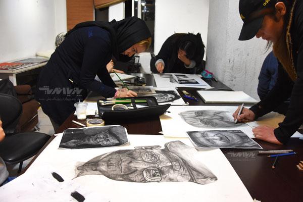 siahghalam class 2 - نقاشی سیاه قلم