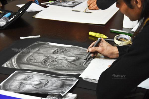 siahghalam class 3 - نقاشی سیاه قلم