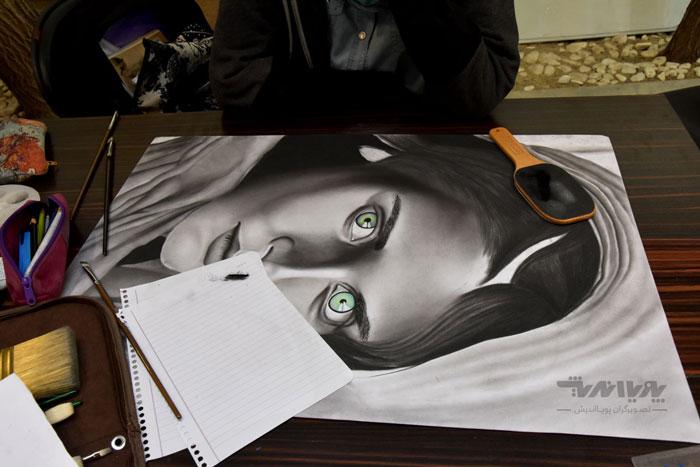 siahghalam class 8 - نقاشی سیاه قلم