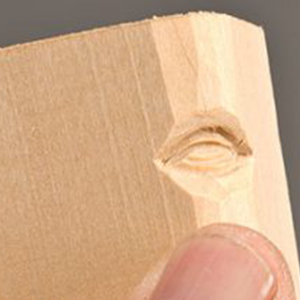 step 7 - اموزش منبت کاری صورت روی چوب