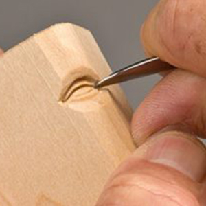 step 8 - اموزش منبت کاری صورت روی چوب