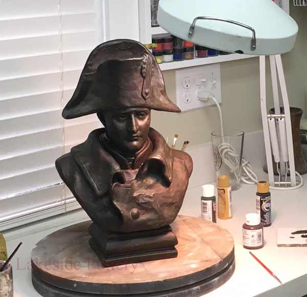 apply patina 18 - ترمیم مجسمه فلزی