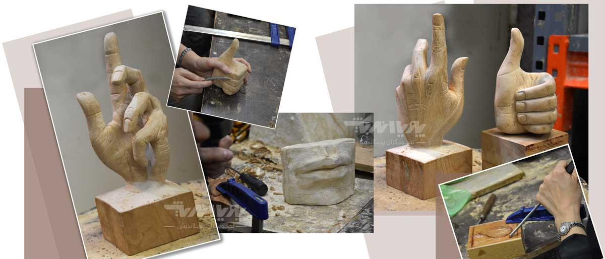mojasamesazi ba choob 6 - مجسمه سازی با چوب