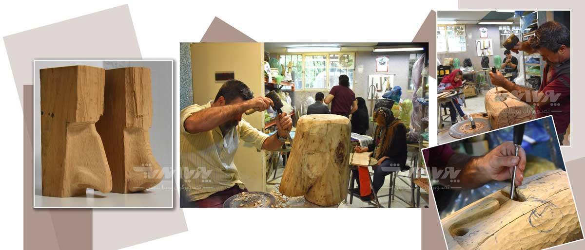 mojasamesazi ba choob 8 - مجسمه سازی با چوب