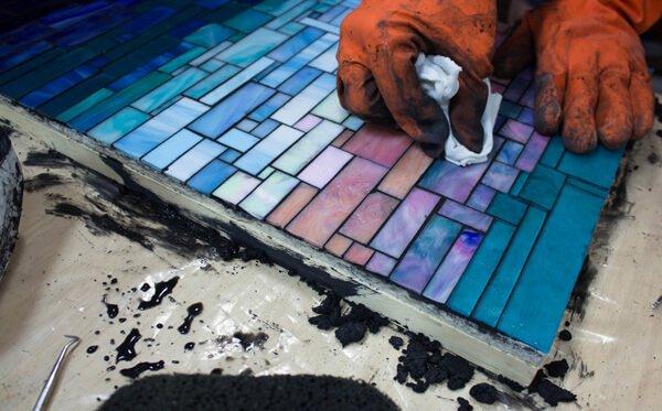 mosaic 2 - روش دوغاب کشی کاشی شکسته