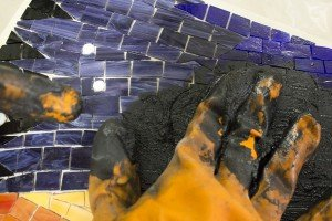 mosaic st 4 - روش دوغاب کشی کاشی شکسته
