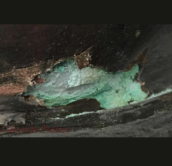 napoleon bust damaged 06 - ترمیم مجسمه فلزی