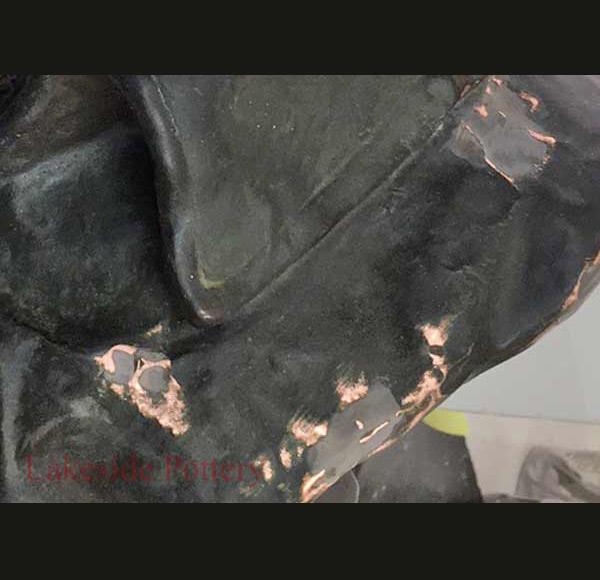 ready for patina 16 - ترمیم مجسمه فلزی
