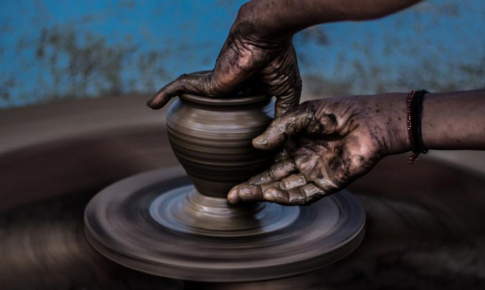 hand spining - گل سفالگری و انواع آن