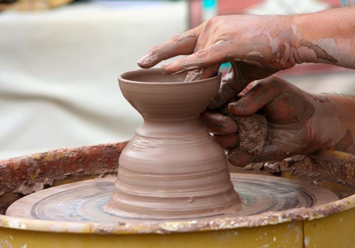 potters wheel - گل سفالگری و انواع آن