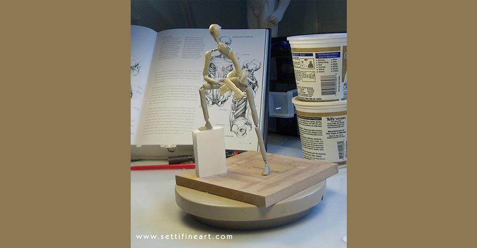 step 6 - ساخت آرماتور برای مجسمه