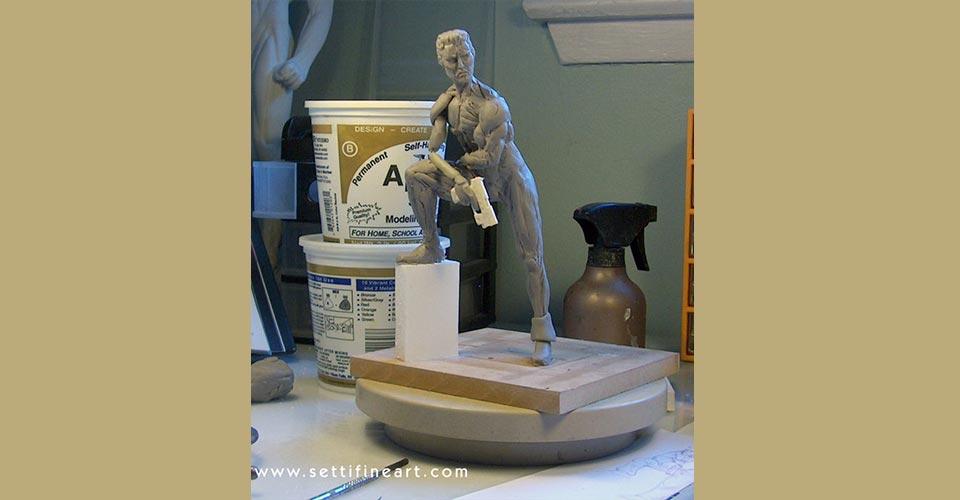 step 9 - ساخت آرماتور برای مجسمه