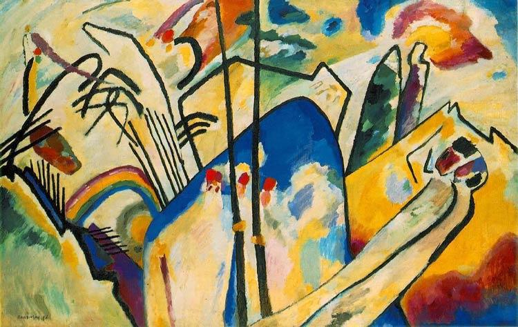 20th Century Art Wassily Kandinsky - مقایسه هنر انتزاعی و هنر فیگوراتیو