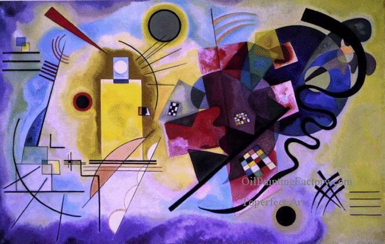 Yellow Red Blue Expressionism abstract art - مقایسه هنر انتزاعی و فیگوراتیو