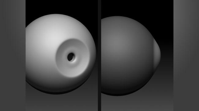 cornea - مدل سازی چشم در زیبراش