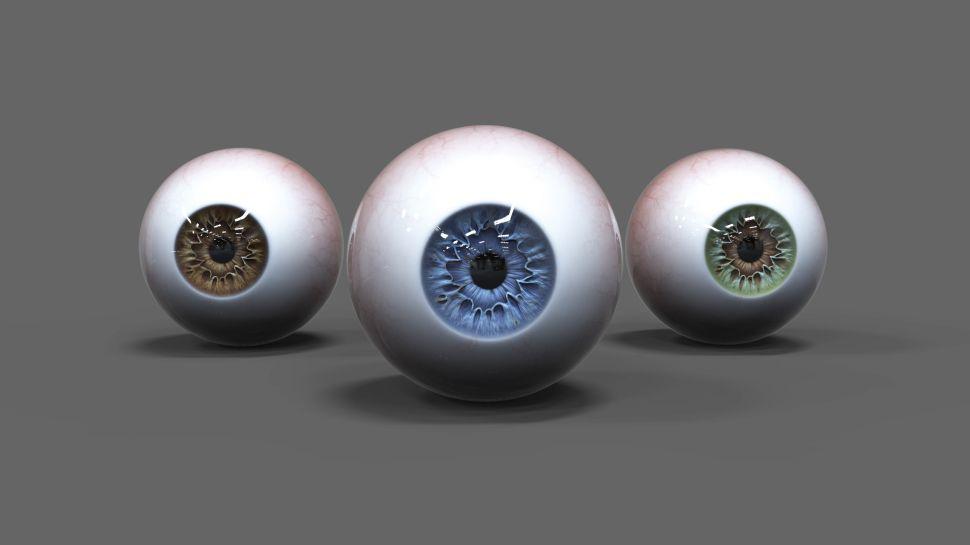 eyes - مدل سازی چشم در زیبراش