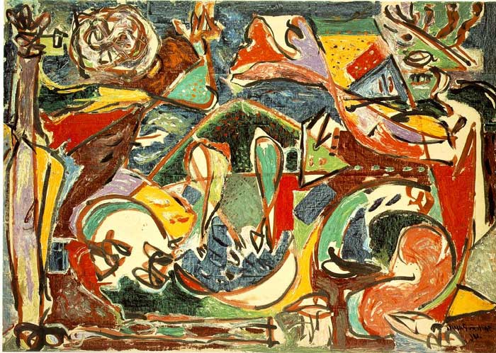 famous abstract expressionism art - مقایسه هنر انتزاعی و هنر فیگوراتیو