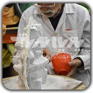 انواع قالبگیری مجسمه با استفاده از آلژینات