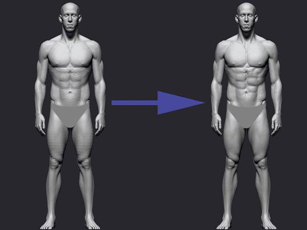 mojasamesazi anatomi zibrush11 - آموزش ساخت آناتومی در زیبراش
