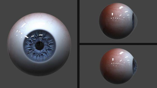 refraction - مدل سازی چشم در زیبراش