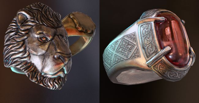 ring shader - چگونگی طراحی مدل های سه بُعدی در ZBrush و Maya