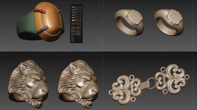 rings - چگونگی طراحی مدل های سه بعدی در زیبراش و مایا