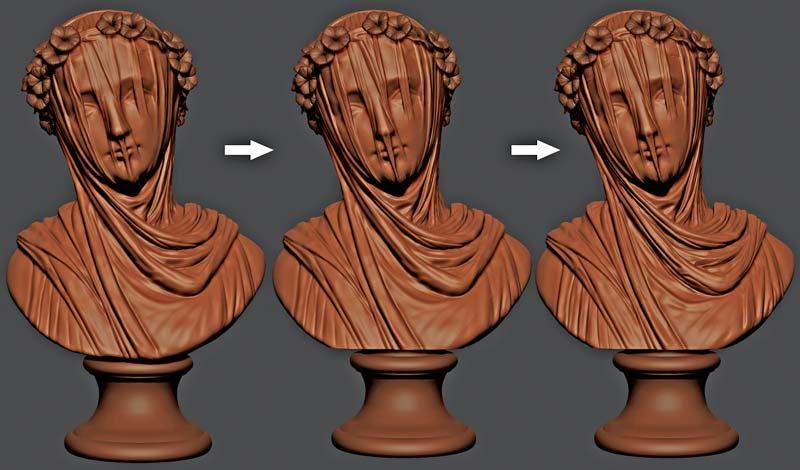 sculpture - 6 روش برای افزایش سرعت مدل سازی در زیبراش