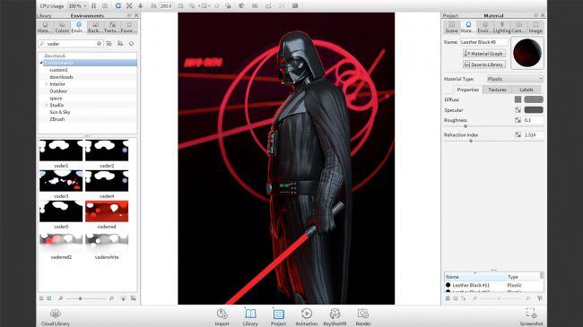 step15 light 1 - مدل سازی darth vader ( شخصیت فیلم جنگ ستارگان ) در زیبراش