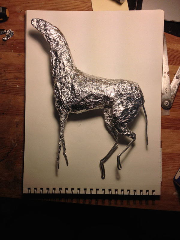 step2 pic1 polymerhorse - آموزش گام به گام ساخت مجسه پلیمری اسب