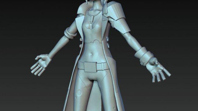 step3 video game character zbrush - ساخت شخصیت در زیبراش : چگونه یک شخصیت بازی ویدئویی را در ZBrush خلق کنیم.