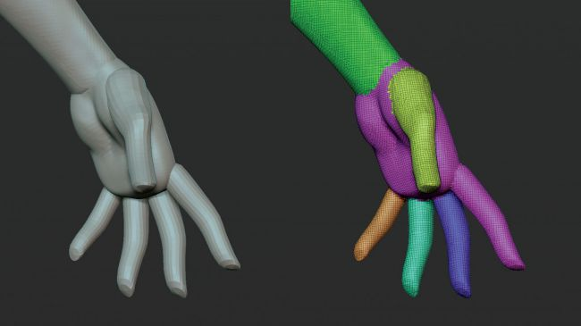 step4 video game character zbrush - ساخت شخصیت در زیبراش : چگونه یک شخصیت بازی ویدئویی را در ZBrush خلق کنیم.
