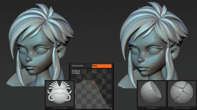 step6 video game character zbrush - ساخت شخصیت در زیبراش : چگونه یک شخصیت بازی ویدئویی را در ZBrush خلق کنیم.