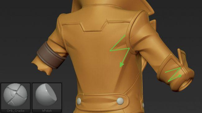 step8 video game character zbrush - ساخت شخصیت در زیبراش : چگونه یک شخصیت بازی ویدئویی را در ZBrush خلق کنیم.