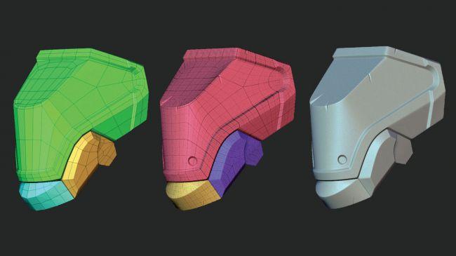 step9 video game character zbrush - ساخت شخصیت در زیبراش : چگونه یک شخصیت بازی ویدئویی را در ZBrush خلق کنیم.