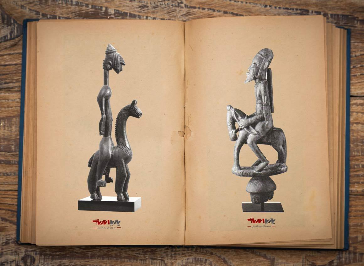 horse rider wooden sculpture in african - مجسمه سازی در آفریقا