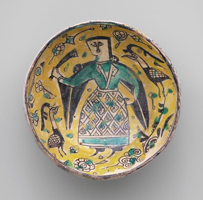 samanian neishapor yellow clay - تاریخچه سفالگری در ایران
