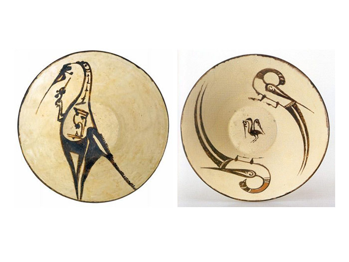 samanian pottery yellow glaze - تاریخچه سفالگری در ایران